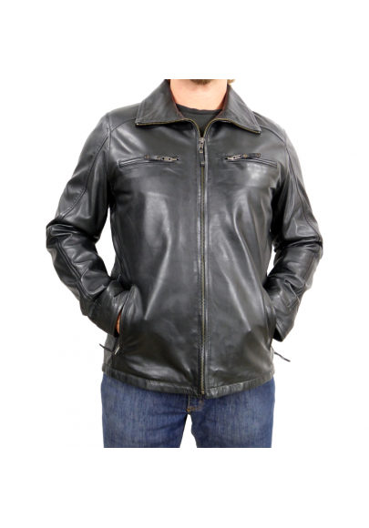 MEN´S ZIPPER LEATHER JACKET
