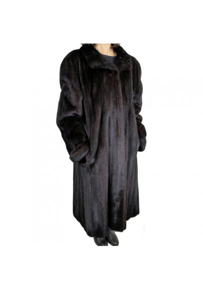 Vintage dark brown mink coat
