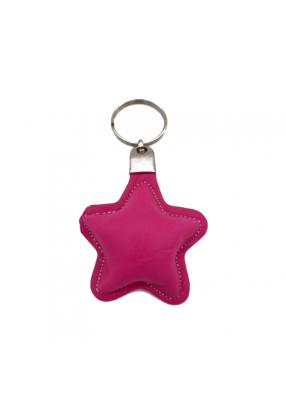 Star leather keychain