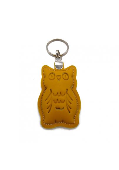 Owl leather keychain