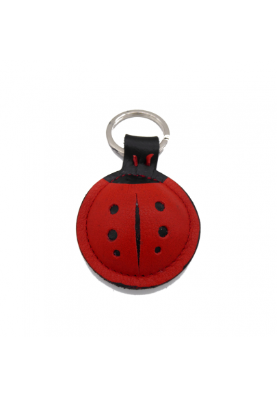 Ladybug leather keychain