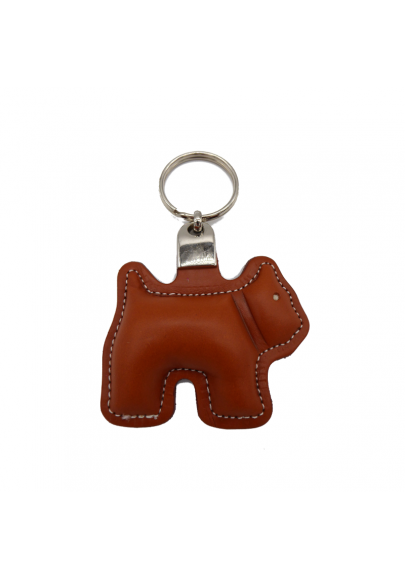 Dog leather keychain