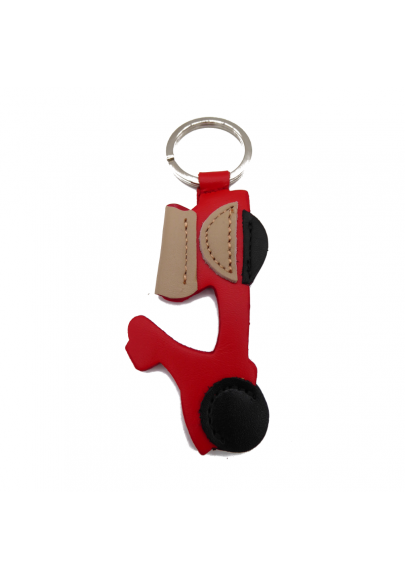 Vespa leather keychain