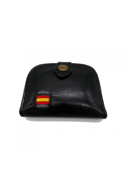 LEATHER PURSE WITH SPANISH FLAG