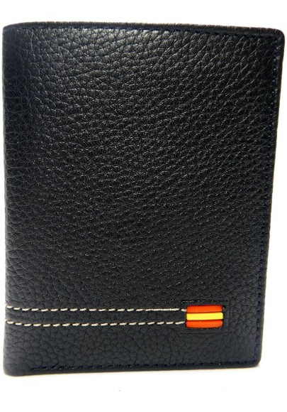 LEATHER WALLET WITH PURSE SPANISH FLAG