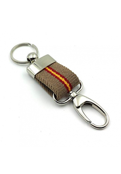 Canvas keychain with carabiner
