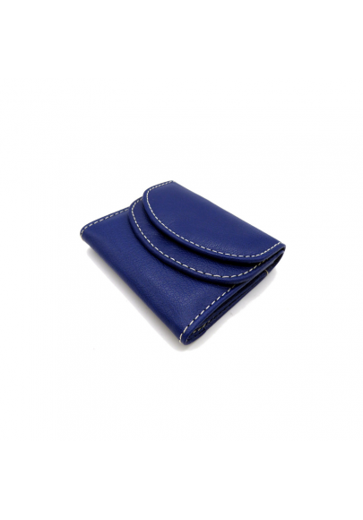 Small leather wallet with double cover