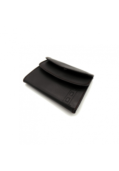 Leather wallet with double cover
