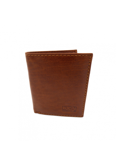 Leather wallet with purse for men