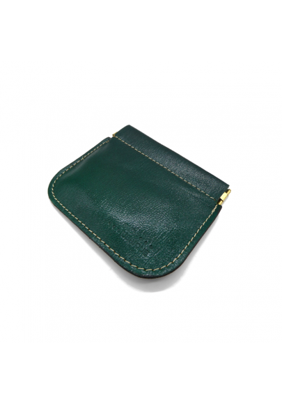 Leather wallet with spring closure