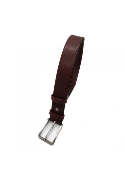 Anti-theft zip leather belt