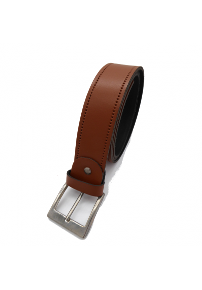 Leather basic belt 1.6 inches wide